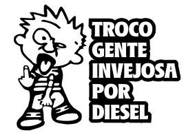 Autocolante -  Troco gente invejosa por diesel