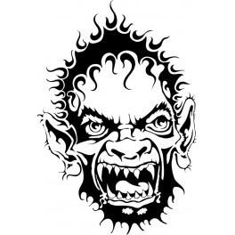 Autocolante - Troll Tribal