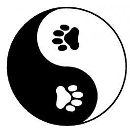 Autocolante - Yin Yang Patas