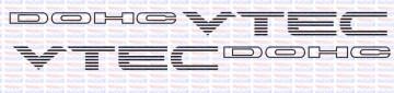Autocolantes - DOHC VTEC (Par)