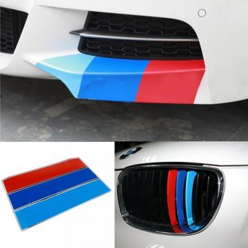 Autocolantes - Faixas BMW (azul claro, azul escuro, vermelho) 5x20cm