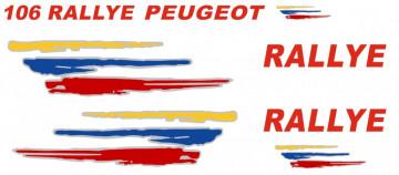 Autocolantes - Peugeot 106 Rallye MK2