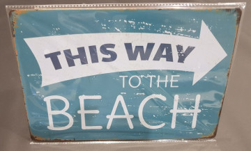 Chapa  decorativa com This way to the beach
