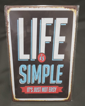 Chapa decorativa para Life is Simple