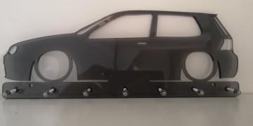 Chaveiro em Acrílico com Volkswagen Golf IV