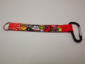 Fita Porta Chaves com Sticker Bomb JDM