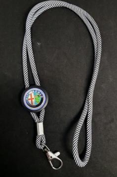 Fita Porta Chaves (lanyard) de Pescoço Ajustável para Alfa Romeo