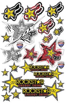 Folha / Pack de Autocolantes - FOX Rockstar