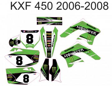 Kit Autocolantes Para Kawasaki KXF 450 06-08