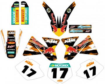 Kit Autocolantes Para  KTM SX MX 98-00