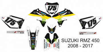 Kit Autocolantes Para Suzuki RMZ 450 08-17