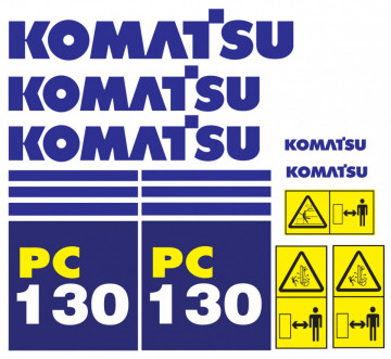 Kit de Autocolantes para KOMATSU PC 130