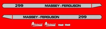 Kit de Autocolantes para Massey Ferguson 299