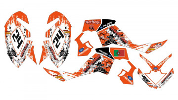 Kit de autocolantes para Polaris Outlaw 450 / 525 06-08