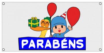Lona de Aniversário - Parabéns Pocoyo