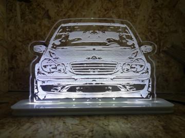 Moldura / Candeeiro com luz de presença - Mercedes Classe C