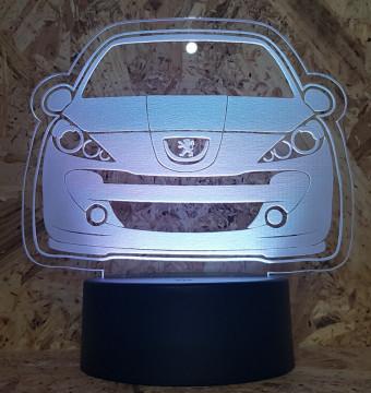Moldura / Candeeiro com luz de presença - Peugeot 207