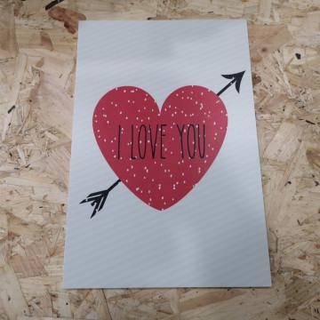 Placa Decorativa em PVC - I Love You