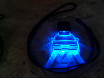 Porta Chaves com luz Multicor com Citroen AX