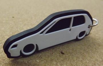 Porta Chaves com silhueta de Peugeot 106