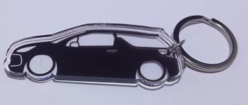 Porta Chaves de Acrílico com silhueta de Citroen DS3