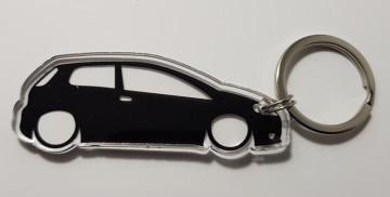 Porta Chaves de Acrílico com silhueta de Fiat Grande Punto