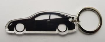 Porta Chaves de Acrílico com silhueta de Mercedes Benz 220 Sportcoupe