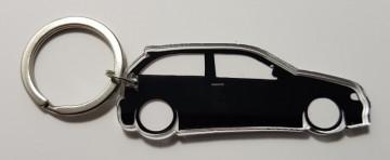 Porta Chaves de Acrílico com silhueta de Seat Ibiza 6K2