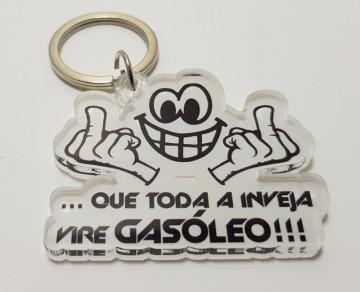 Porta chaves em acrílico - que toda a Inveja vire Gasóleo
