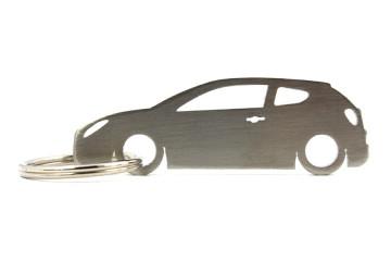 Porta Chaves em inox com silhueta com Alfa Romeo Mito