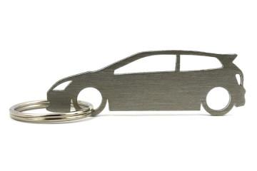 Porta Chaves em inox com silhueta com Honda Civic (7gen) EP