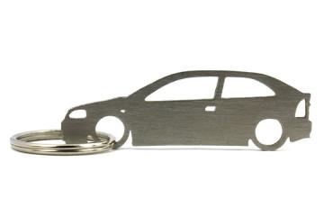 Porta Chaves em inox com silhueta com Opel Astra G 3P