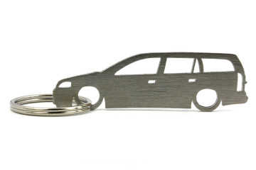 Porta Chaves em inox com silhueta com Opel Astra G  wagon