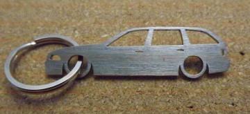 Porta Chaves em inox com silhueta da Bmw E36 Touring