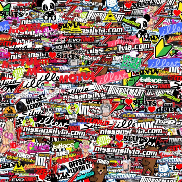 Sticker Bomb - JDM HellaFlush - 48x48cm