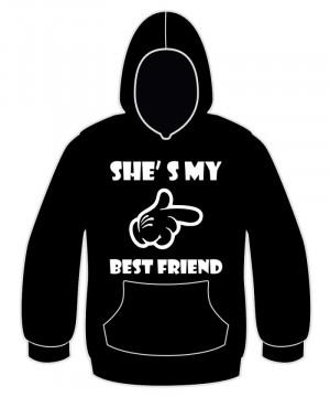 Sweatshirt com capuz - She´s my best friend