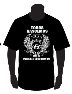 T-shirt com Todos Nascemos Iguais (Hyundai)