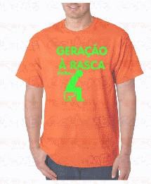 T-shirt  - GERAÇÃO Á RASCA PARA CAGAR