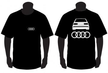 T-shirt para Audi A80 Traseira