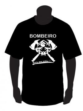 T-shirt para Bombeiro Vida por Vidas!