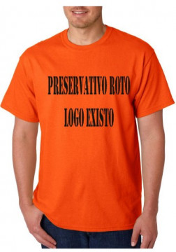T-shirt  - Preservativo Roto, Logo Existo