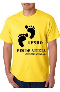 T-shirt  - Tenho Pés de Atleta vê se me apanhas