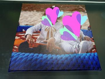 Tela com impressão de imagem / foto cedida pelo cliente
