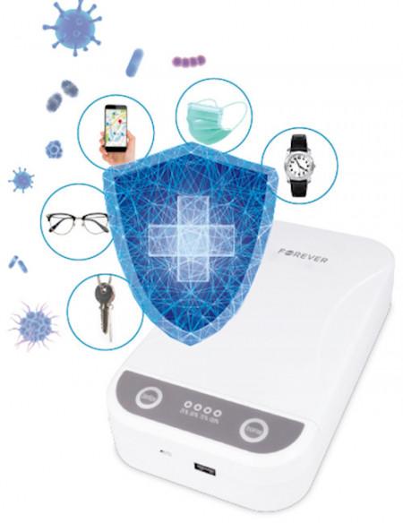 Poze Sterilizator UVC 3 in 1, Forever, pentru obiecte mici, smartphone, functie aromaterapie, mufa USB