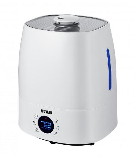 Umidificator de Aer Noveen, UH1800 X-LINE, Aer rece/cald,Rezervor 5l, Super Silentios, Filtru antibacterian, Alb