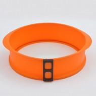 Formă pentru tort din silicon şi fund din sticlă, Ø26x7cm, portocaliu, Tiross, cod TS368