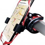 Suport Telefon pentru bicicleta si motocicleta, Protectia Anti-Alunecare, Curea Cauciuc, Tebeltec, model M40