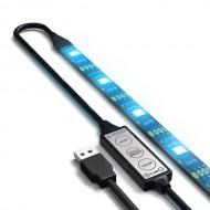 Kit banda LED pentru iluminare ambientala TV, RGB, 1m, IP 65