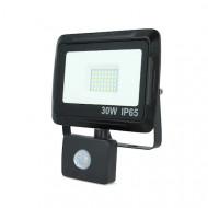 Proiector LED 30W 2400lm cu senzor de miscare 4500K IP65