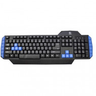 Tastatura Rebeltec WARRIOR gaming keyboard, USB Negru/Albastru